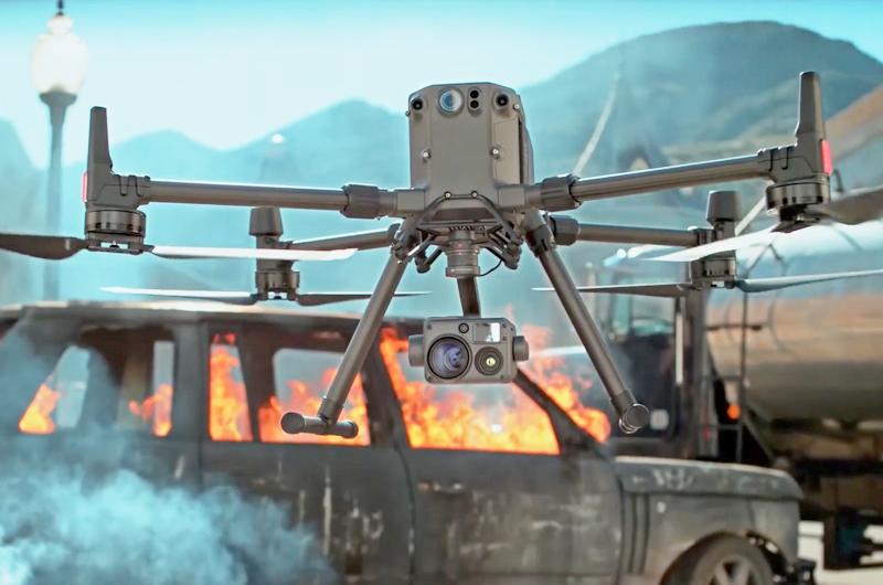Los bomberos pueden gestionar mejor las situaciones de emergencia utilizando drones